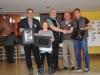 Bild zeigt von links: 2.Vors. Gunther Lersch, Glücksfee Emma Gärtner, Vors. Andreas Giese, Gerold Schlosser und einen der Gewinner Patrik Butz.